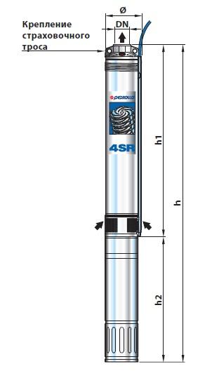"""Скважинный погружной электронасос диаметром 4"""" с электродвигателем «PEDROLLO»"""