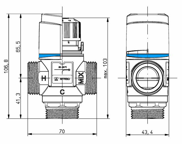 Схема AFRISO ATM 331