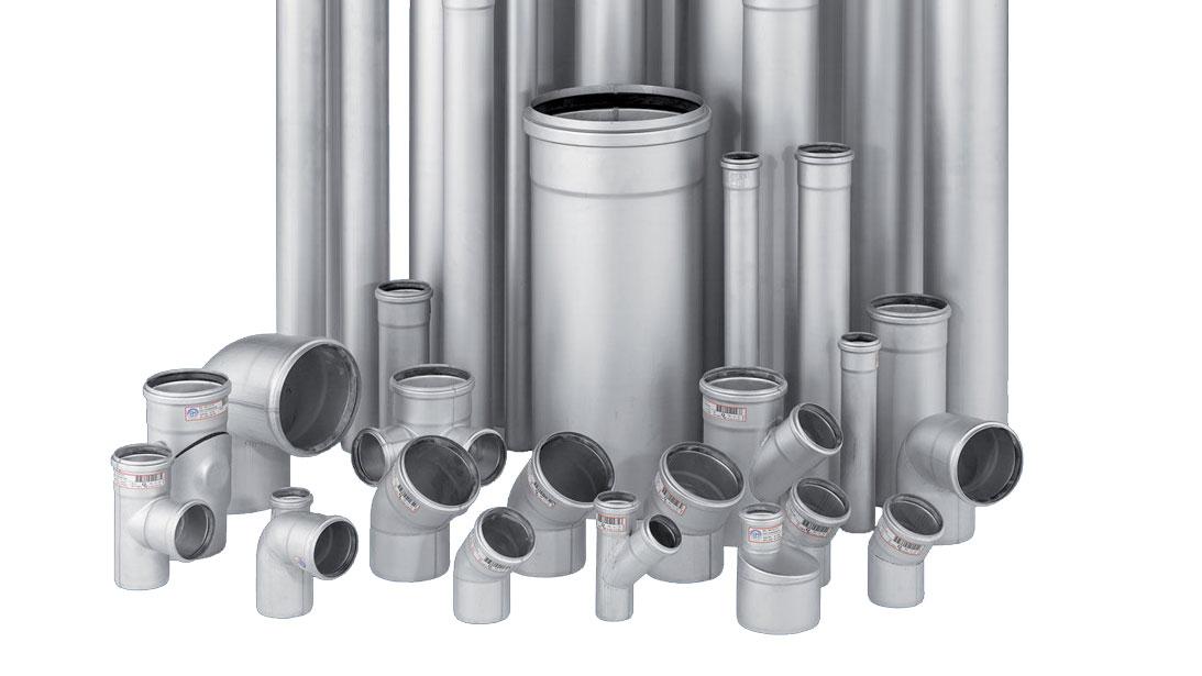 Раструбная система канализации из нержавеющей стали