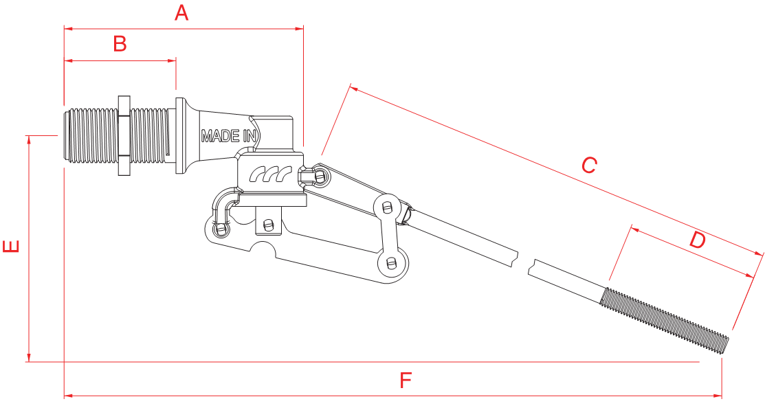 Поплавковый клапан FARG с резьбовым соединением