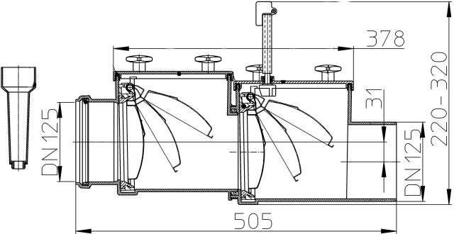 Затвор канализационный HL712.2