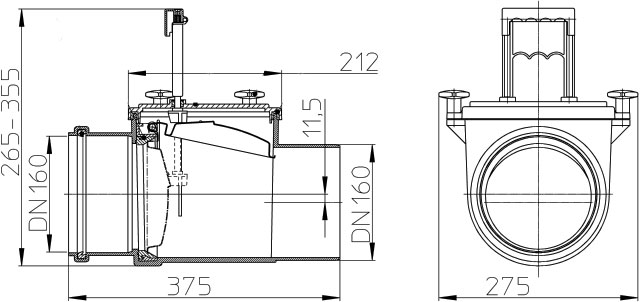 Затвор канализационный HL715.1