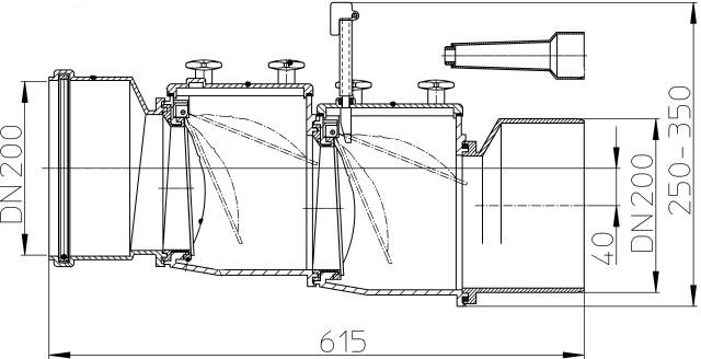 Затвор канализационный HL720.2