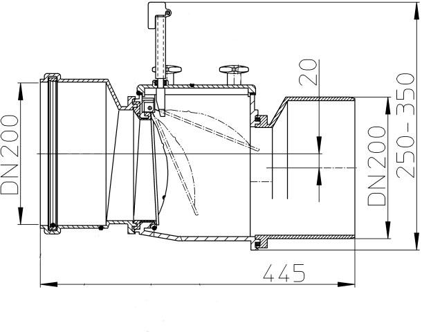 Канализационный затвор HL720.1 DN 200