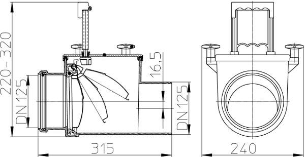 Затвор канализационный HL712.1