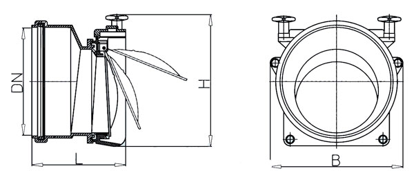 Затвор канализационный HL720.0