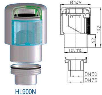 Воздушный клапан HL900N DN 50/75/110