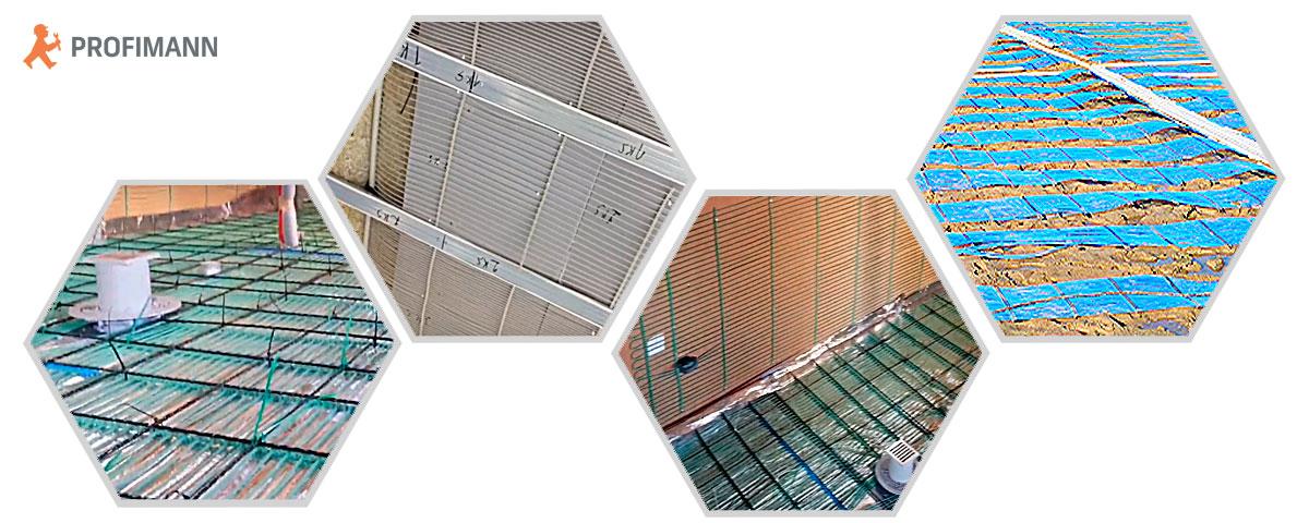 Области применения матов капиллярного отопления и охлаждения