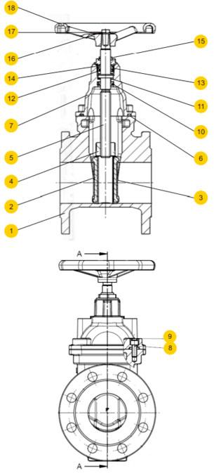Материалы задвижки Zetkama 111D