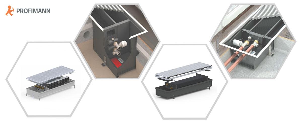 Конструкция внутрипольного конвектора Carrera