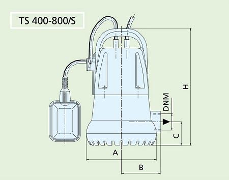 габариты Speroni TS 800S