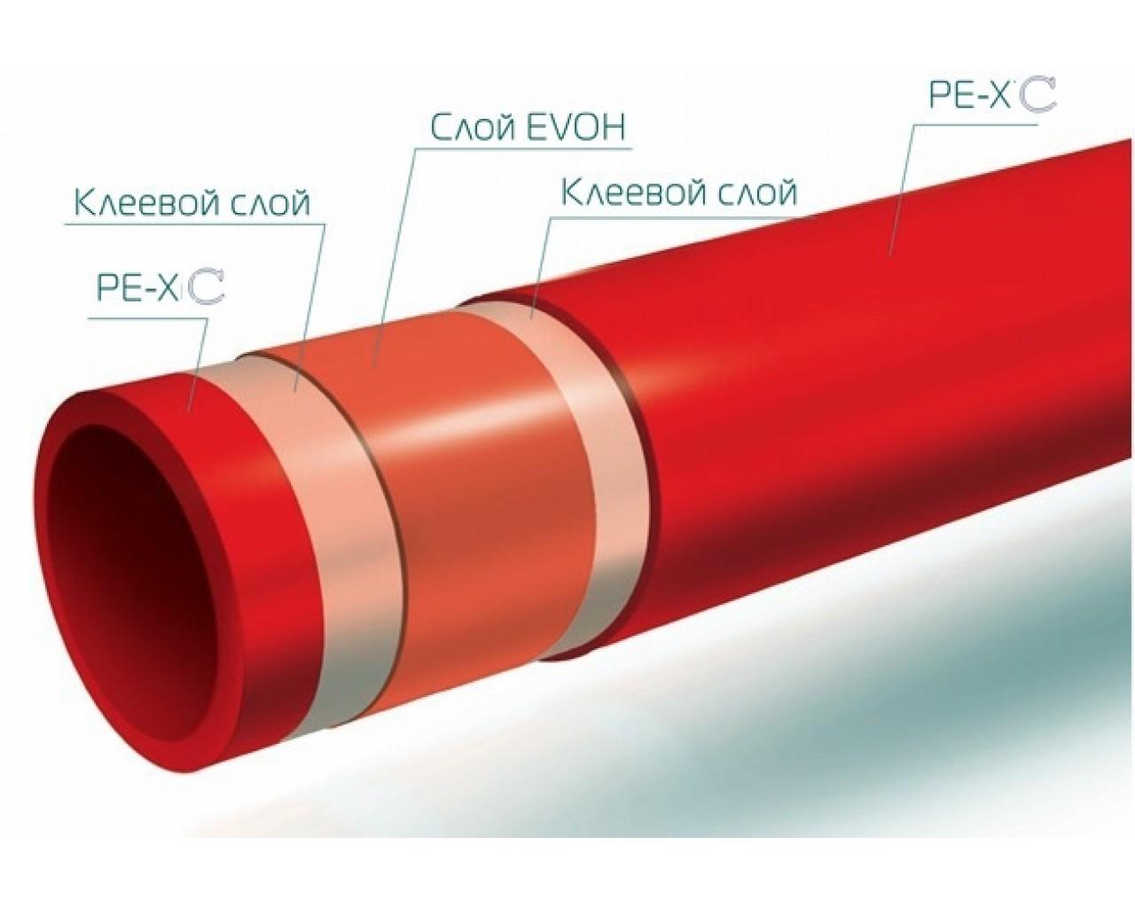 труба для теплого пола WAVIN PEX-c/EVOH 16 × 2