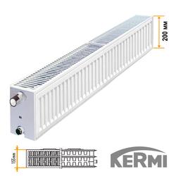 Стальной радиатор Kermi FKO Тип 33 200x1000 1352W (боковое подключение)