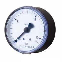 "Купить - Манометр для воды AFRISO тип RF 50 AX | 0-16 бар | 1/4"" | к.т. 2,5"