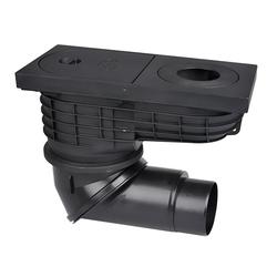 Дождеприемник HL 600NG с чугунной решеткой DN 110/125 (600 л/мин)