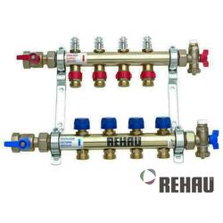 Распределительный коллектор REHAU HKV-D 6 контуров   с расходомерами