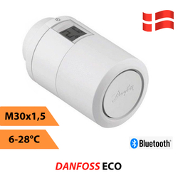 Электронная термоголовка Danfoss Eco Bluetooth (014G1001)