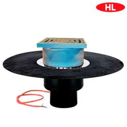 Кровельная воронка HL62.1BH/1 c гидроизоляционным полотном и электрообогревом | DN110