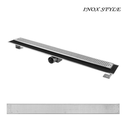 Душевой канал с горизонтальным фланцем Inox Style685x80