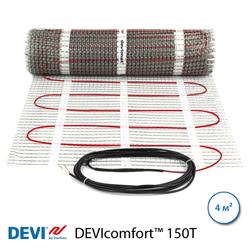 Нагревательный мат DEVIcomfort™ 150T, 4 м2, 600 Вт, двухжильный (83030574)