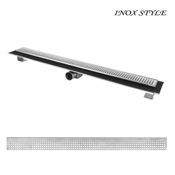 Душевой канал с горизонтальным фланцем Inox Style985x80