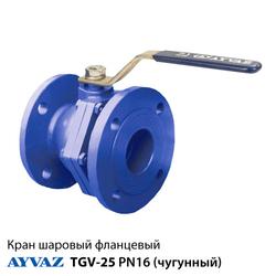 Купить - Кран шаровый фланцевый Ayvaz TGV-25 ДУ 150 чугунный