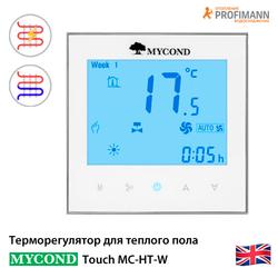 Терморегулятор для теплого пола Mycond Touch MC-HT-W | белый