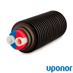 Uponor Ecoflex Thermo Twin Теплоизолированная труба 2х63х5.8/200 | 6 бар