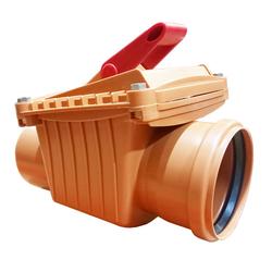 Обратный клапан для канализации 110 мм Capricorn | горизонтальный
