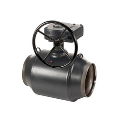 Кран шаровый приварной полнопроходной с редуктором Danfoss FB JIP-WW Ду 250 Ру 25 (065N1161)