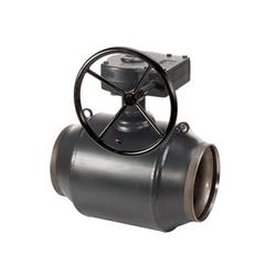 Кран шаровый приварной стандартнопроходной с редуктором Danfoss JIP-WW Ду 80 Ру 25 (065N0139)