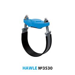 Хомут-заглушка Hawle 3530 (для стальных и чугунных труб)