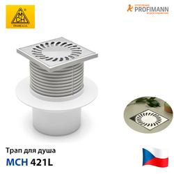 Душевой трап с гидрозатвором MCH 421L | 122х122 | DN110 - фото 1