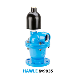 Воздушный вантуз фланцевый Hawle 9835 DN 100 PN16
