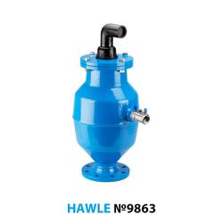 Воздушный вантуз Hawle 9863 для канализации DN 100 PN16