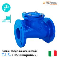 Клапан обратный шаровый фланцевый TIS C068 Ду50-500 Ру10