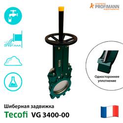 Задвижка шиберная ножевая Tecofi VG 3400-00 PN 10