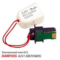 ECL Ключ А231 для Danfoss ECL Comfort 210/310 (087H3805)
