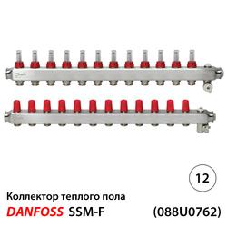 Danfoss SSM-12F Коллекторы из н/ж стали 12+12 | c расходомерами (088U0762)