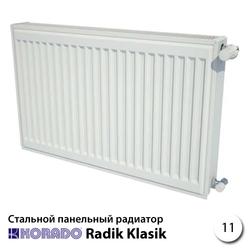 Стальной радиатор Korado Radik 11К 400x1200 1027W (боковое подключение)