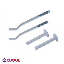Кронштейн для радиатора Djoul 235мм, 2 шт, белый (KRD8250)