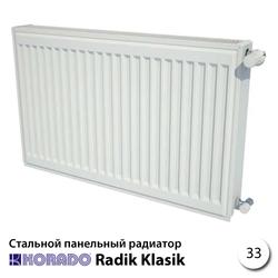 Стальной радиатор Korado Radik 33К 500x1000 2626W (боковое подключение)