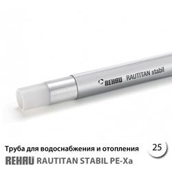 Труба Rehau Rautitan Stabil PE-X/AI/PE 25х3,7 мм (130141050) - бухта 50м