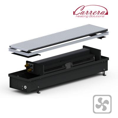 Конвектор внутрипольный Carrera 4SV Black 245x2500x120