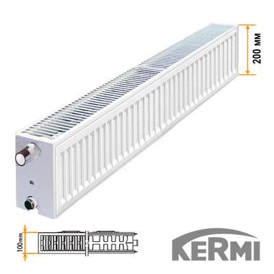Стальной радиатор Kermi FKO Тип 22 200x1300 1207W (боковое подключение)