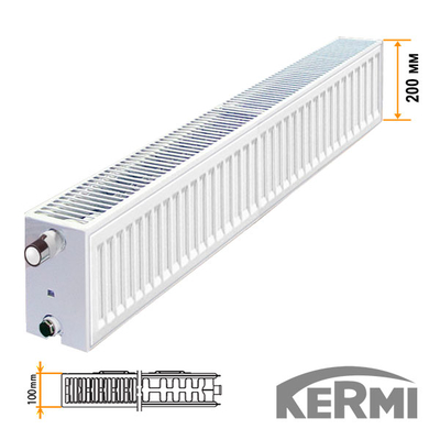Стальной радиатор Kermi FKO Тип 22 200x3000 2753W (боковое подключение)