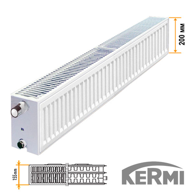 Стальной радиатор Kermi FKO Тип 33 200x1100 1487W (боковое подключение)