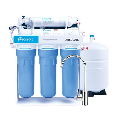 Фильтр обратного осмоса Ecosoft Absolute 5-50P с помпой на станине