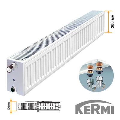 Стальной радиатор Kermi FTV Тип 22 200x2600 2298W (нижнее подключение)