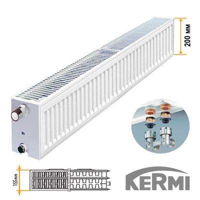 Стальной радиатор Kermi FTV Тип 33 200x2000 2631W (нижнее подключение)